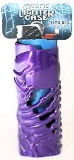 Mystic Lighter Metallic Coloured Case Goth Designs Skull Skeleton Hand or Dragon