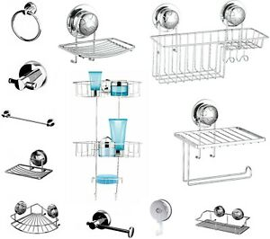Super Suction Cup NO DRILLING Bathroom Shower Wall Storage Accessories Tidy Unit