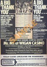 Northern Soul - Rare 'Wigan Casino' Magazine cuttings collage Poster Print