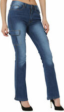 Bootcut Cotton Regular Size Trousers for Women