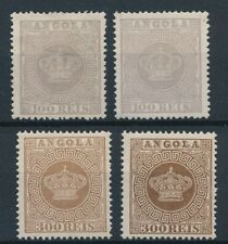 [54355] Angola 1870 lot 4 good perf. 13.5 MNH/MH/No gum Very Fine stamps