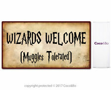 Coco&Bo - Welcome Wizards Muggles Party Sign - Harry Potter Inspired Decorations