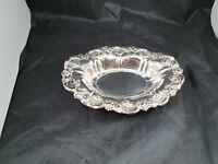 Vintage Ornate Small Falstaff silver plated oval bowl length 18 cm x 13 cm