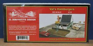 JL Innovative Designs #131 HO Val's Hamburgers 1950s Era Craftsman kit NIB