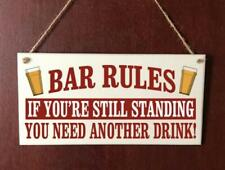 Handmade Plaque Bartender Bar Rules Funny Hanging Sign Gift Present Drinking