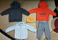 Lot of 5 Baby Boy Clothing Hoodie Jeans Shirt Pants Hat 12 month