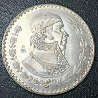 1 Silver Plata Un Peso Mexico Mexican Uncirculated BU