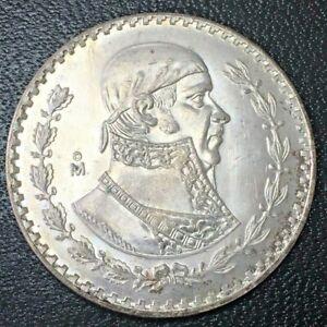 GRANDE Un Peso Moneda de Plata Mexico Mexican