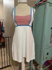 Pure Lime Tennis Dress white blue Red Scandinavian Design sz large 12-14