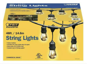 Feit Electric Commercial 48ft 11W Indoor Outdoor Weatherproof 24 String Ligths ❤
