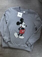 BNWT Licensed Disney mickey mouse Grey sweatshirt  print Classic graphic Small