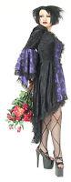 Eternal Love Plus Size Black Purple Gothic Dress Taffeta Lace 1X 2X 3X 4X 5X