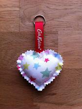 *Cath Kidston Mini Shooting Star Fabric - Handmade Heart Keyring / Bag Charm*