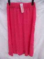 BNWT Ladies Sz 14 Crossroads Brand Pretty Coral Long Crinkle Summer Skirt RRP$40