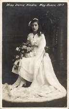 Preston photo. Miss Doris Hindle, May Queen by Harry Melling, Church St Preston.