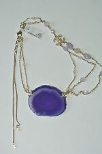 CHANEL Metal Multi-Strand Necklace Embellished With An Amethyst, NEW.