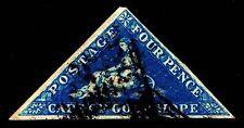 SG.#4a USED CAPE OF GOOD HOPE ISSUE W/ SISMONDO CERT - VF CV $200.00 (ESP#6478)