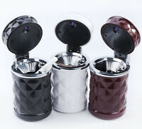 Portable In Car Auto Travel LED Light Cigarette Ashtray Ash Tray Holder Cup MO
