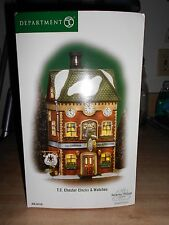 DEPT 56 DICKENS' VILLAGE T C CHESTER CLOCKS AND WATCHES NIB *Still Sealed*
