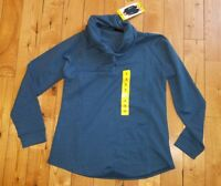 NWT Women's 32 Degrees Heather Blue Sapphire Funnel Cowl Neck Sweater Size XS