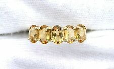 10Kt REAL Yellow Gold Oval Citrine Ladies Gemstone Gem Stone Gem Ring EBS99R80