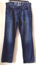 Mens Medium Blue Jeans 36W 34L COMPANY 81 Straight 100% Cotton Pre-Owned
