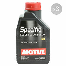 Motul VW Specific 505 01,502 00 5W-40 Synthetic Engine Oil 3 x 1 Litre 3L