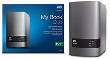 WD 12TB My Book Duo Desktop RAID External Hard Drives HD 6TB X 2 WDBLWE0120JCH