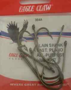 Eagle Claw 84A #12 10CT Offset Bronze Hooks
