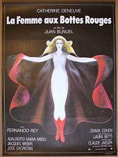 LA FEMME AUX BOTTES ROUGES Original 1974 French Movie Poster * CATHERINE DENEUVE