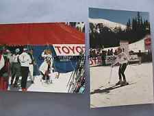2 REAL PHOTOS JOANNA KERNS 1988 COPPER MOUNTAIN, CO CELEBRITY SKI GROWING PAINS