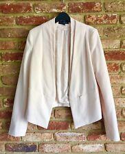 Topshop Tall Nude Cropped Tuxedo Blazer Jacket 12 40