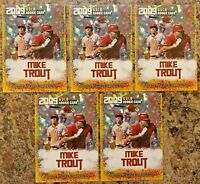 (5) 2009 Mike Trout Gold Cracked Ice Rookie Limited Edition Card L.A. Angels
