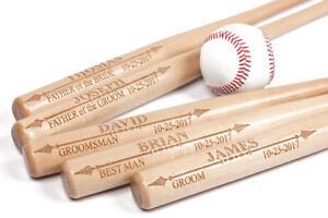 Personalized Mini Baseball Bat, Wedding, Groomsman, Little League, Made in USA