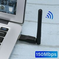 AU_ IG_ 150Mbps Wireless USB Wifi Adapter Dongle Dual Band Network Antenna 802.1