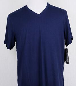 Umbro T Shirt Vneck Spilt Hem Lounge Top Short Sleeve Navy