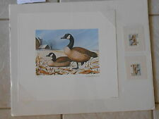 MI4 - Michigan State Duck Artist Signed  Numbered Print & Stamps. #02 MI4