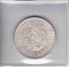 1947 Mexico 5 Pesos Aztec Chieftain 'Cuauhtemoc' 900 Silver 30 Gr.           BU