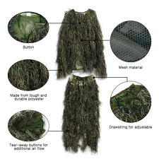 3D Military Leaf Hunting Camo Tactical Camouflage Clothing Ghillie Suit XL & XXL