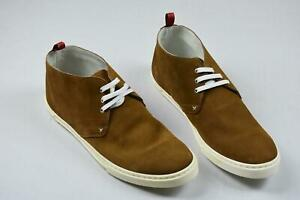 Kiton Men's Brown Suede Leather Casual Chukka Boots Sneakers Shoes 7 NEW US 8