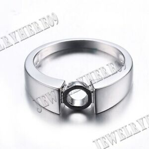 Wedding Anniversary Generous Band Round 6.5mm Sterling Silver Semi Mount Ring