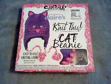 BRAND NEW GIRL'S KNIT THIS! CAT BEANIE KIT (EASY TO USE KNITTING LOOM)