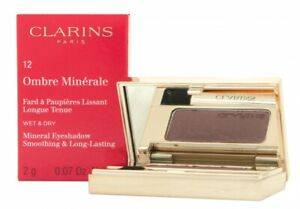 CLARINS OMBRE MINERALE EYESHADOW 2G - 12 AUBERGINE. NEW. FREE SHIPPING