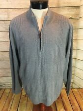New Raffi Shaya Sweater Gray 1/2 Zip Men's Cotton Wool Cashmere XXL - Y6