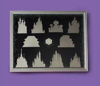 Disney Castle Collection Monthly Collectible Pin Display Frame with Logo pin.