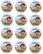 "Dora the Explorer  12 x 2"" Round Edible Icing Cup Cake Toppers"