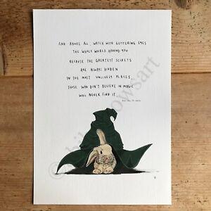 Roald Dahl - The Minpins Magic / Art Poem Print / Poster / Drawing A4