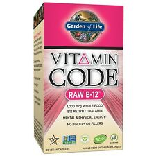 Garden of Life Vitamin B12 - Vitamin Code Raw B12 Whole Food Supplement 1000 ...