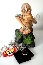 Lord of Rings Smeagol/Gollum (Sheldon) Statue+OFFICIAL One Ring+Big Bang Novelty