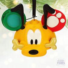 Disney Parks Pluto Ear Hat Christmas Ornament